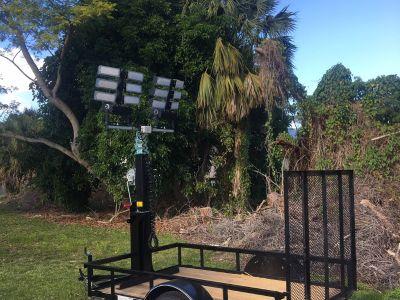 Trailer Light Tower Mast and LED Lights