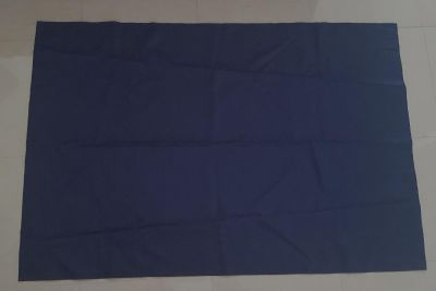 "Navy blue blackout curtains. 62"" long, 41 1/2"" wide"