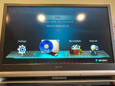 Sony 42 TV with stand and Blu-ray player