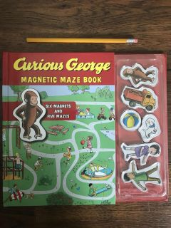 Like New - Curious George Magnetic Maze Book