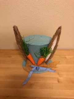 Easter Bunny Top Hat Table Decoration
