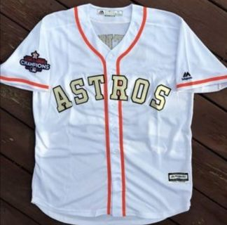 Astros Gold Championship Jersey