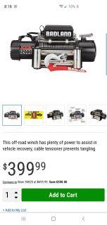 12000lb ZXR winch