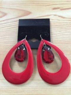 Earrings Big red