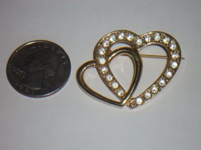 double heart pin