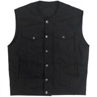 Purchase Biltwell Inc Prime Cut Vest without Collar Black Denim L Large Men DV-BLK-DN-LRG motorcycle in Sorrento, Florida, United States, for US $139.95