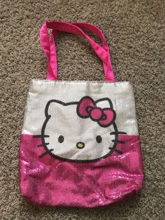 Hello Kitty Sequence & Satin Tote