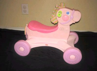 Fisher Price Sit N Scoot Pink Ride On Horse Sound