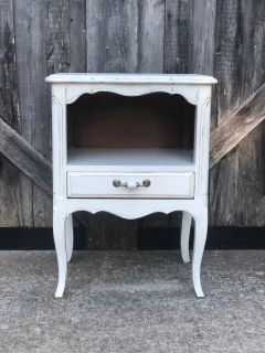 Hand painted solid wood side table
