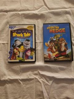 Shark Tale and Over The Hedge, $5.00