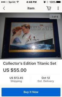 Titanic VHS Collector's Edition with book