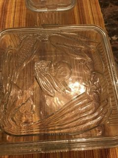 Vintage casserole dishes\ refrigerator glass