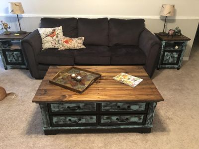 Set of 2 Side Tables and Coffee Table