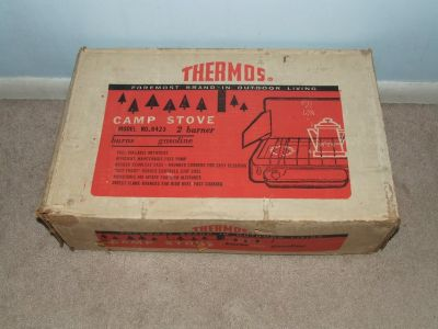 Vintage Thermos Camp Stove 2-Burner Model 8423 / Box