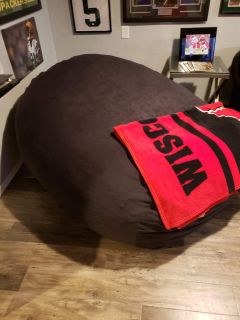 Massive black love sac type chair