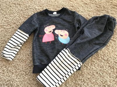 Boys Peppa Pig 2 Piece Layered Look Outfit - Sz 5/6