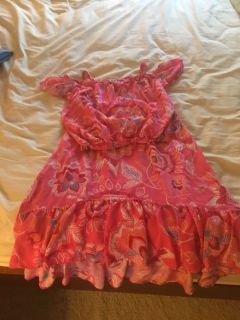 Girls adorable 2 pc pink outfit size 12/14