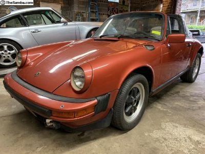 1983 Porsche 911 SC Targa Roller Rare Brick Red