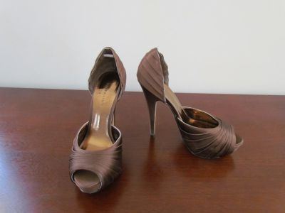 Brown Satin Dress Shoes