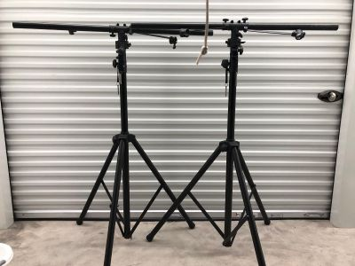 Speaker stands w/ lighting attachement