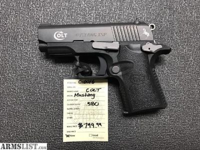 For Sale: COLT Mustang XSP 380