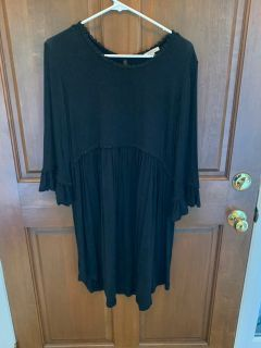 Jodifl Black Flow Dress with Adorable Details in Women s Size Large - see pics!