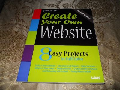CREATE YOUR OWN WEBSITE textbook book & cd Creative learning books