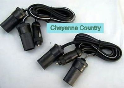 Purchase 2 Lot 12V Dual Cigarette Lighter Power Extension Cable for Boats Trucks RV & ATV motorcycle in Wichita, Kansas, United States