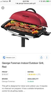 George Foreman Patio/Outdoor Electric Grill
