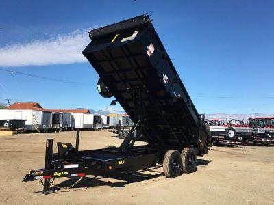 7x14 Super Duty Dump TrailerGVWR 17,500 lbs, Excavator Hauler, Big Tex Dump Trailer 16LX-14-HJ