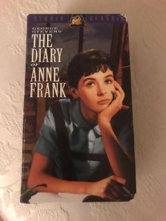 VINTAGE VHS DIARY OF ANNE FRANK MOVIE...