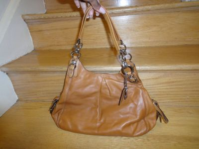 Authentic Cognac Coach handbag