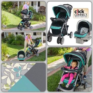 Graco Comfy Cruiser Click Connect Travel System Harvest, Stroller & scar seat & Base, New In Box