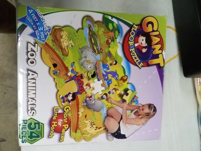4Ft x 3Ft/54 PIECES GIANT ZOO FLOOR PUZZLE