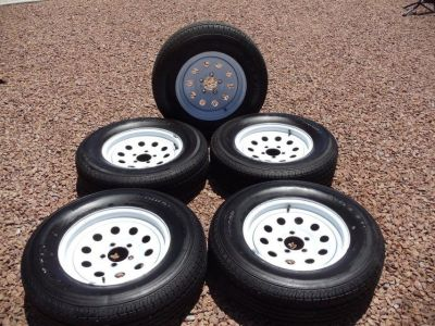 Maxim RV Trailer Tires and Rims all 5 one money(REDUCED)