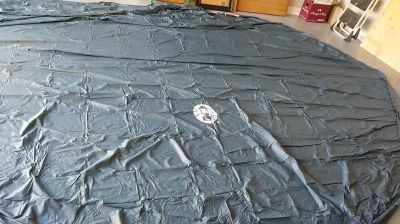 New never used Coleman pool cover we'll fit 15 to 16 foot round above ground pool asking $20