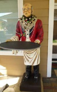 $550 Larger Than Life 6 Foot Handcrafted Resin Butler Statue!! Awesome