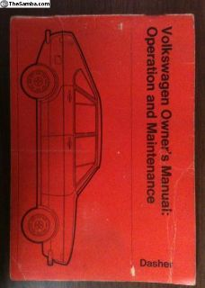 1974 Dasher owners manual