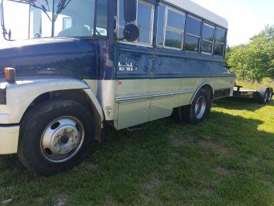 party bus and race car hauler