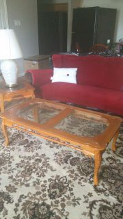 Coffee Table with 2 end table and a lamp
