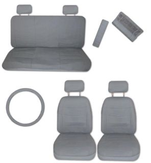 Sell Superior Artificial Leather Grey Gray Car Truck Seat Covers Set with Extras #C motorcycle in Hildale, Utah, US, for US $46.93