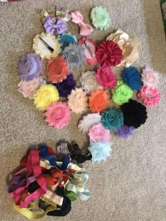 Headbands and flower clips