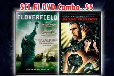 Sci-Fi DVD Combo...$5 (Cloverfield & Blade Runner)