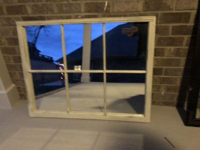 Rooster Tails Window Frame Mirror