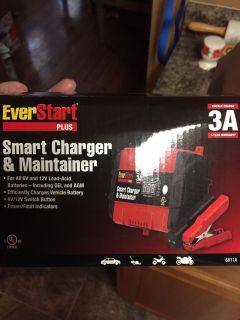Smart charger and maintainer for all 6 v and 12 v lead acid batteries including gel and atm charges vehicle batteries 6v/ 12 v switch, power
