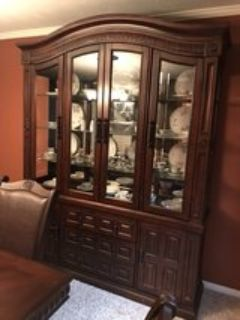 2 piece China hutch