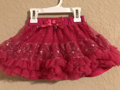 Hello Kitty Like New Hot Pink Skirt. Nice Condition. Size 3T