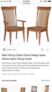 ISO dining room chairs. All wood