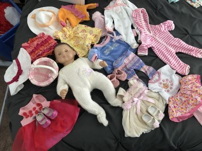 American Girl Bitty Baby and outfits