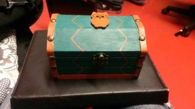 Tiny wooden chest